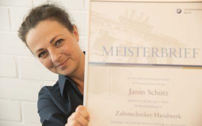 Meisterhaft – unser Meisterlabor: Wir gratulieren Janin Schütz